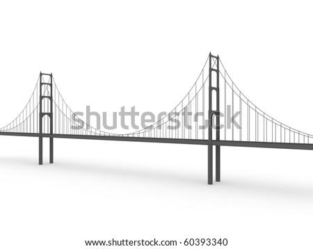 San Francisco Golden Gate Bridge Black Stock Illustration