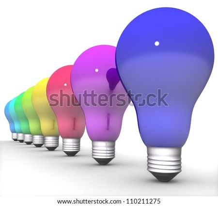 3d bright lights - stock photo