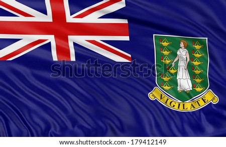 3D British Virgin Islands Flag - stock photo