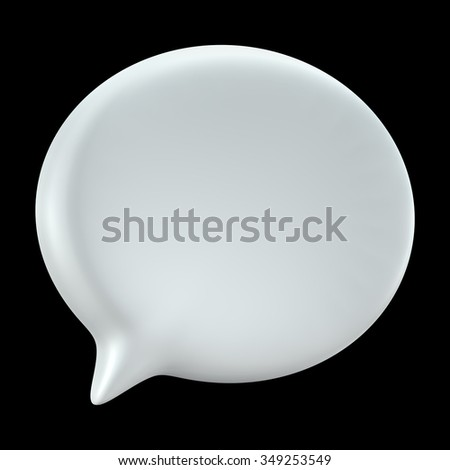 3D bubble speech, icon isolated die cut (Clipping Path) - stock photo