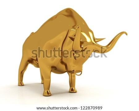 3D Bull - stock photo