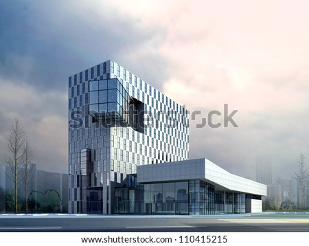 3d Business building - stock photo