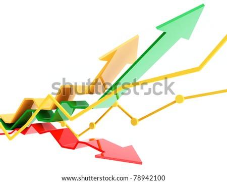 3d business chart - stock photo