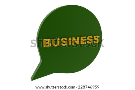 3d business concept - stock photo