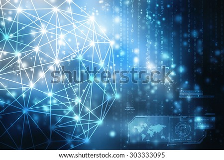2d business network background - stock photo