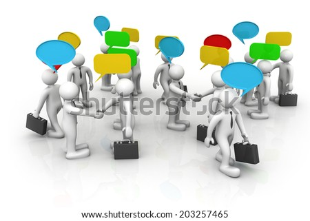 3d business people are discussed, Discuss/debate/ communication 	 - stock photo