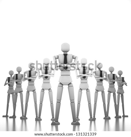 3d business people team - stock photo