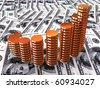 3d business statistics - stock photo