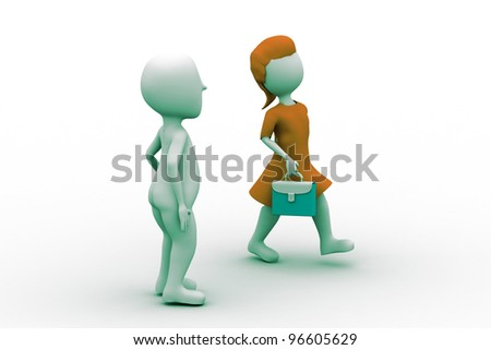 3D Business team - stock photo