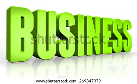3D business text on white background - stock photo
