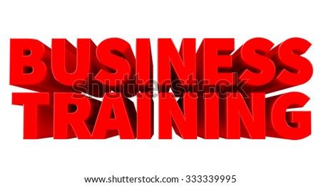 3D BUSINESS TRAINING word on white background 3d rendering - stock photo