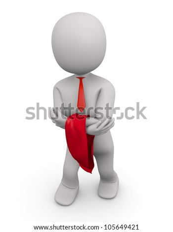 3d businessman on white isolated background