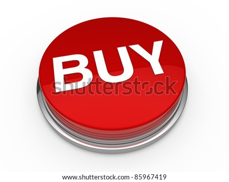 3d button buy red press push click