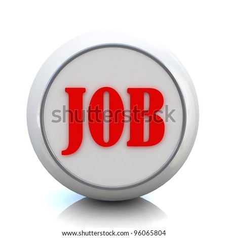 3d button for business with job text from set - stock photo