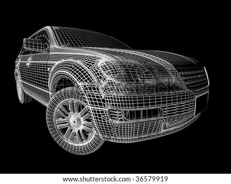 3d Car - stock photo