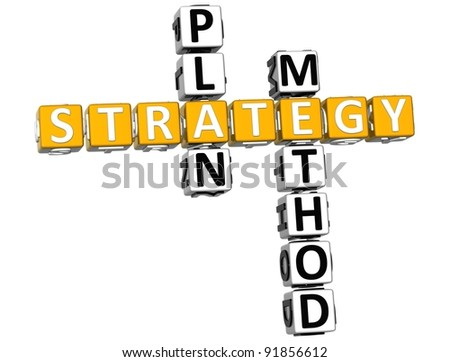 3D Career Strategy Crossword on white background - stock photo