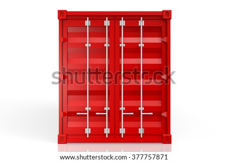 3D cargo container - great for topics like freight transportation, merchandises, goods, import/export etc. - stock photo