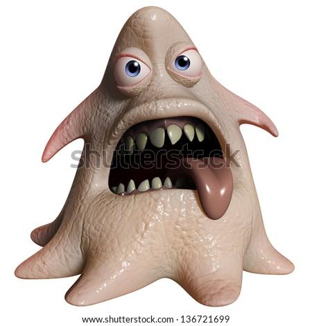 3d cartoon halloween monster - stock photo
