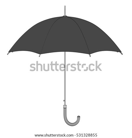 2d cartoon illustration of umbrella