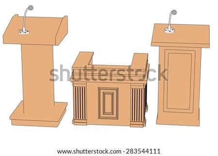 2d cartoon image of podiums - stock photo