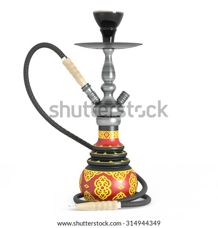 3d Ceramic Hookah isolated