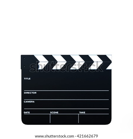 3D CG rendering of a clapperboard
