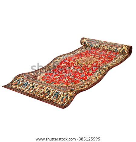 3D CG rendering of a magic carpet - stock photo