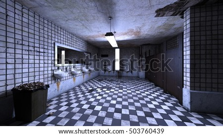 3D CG rendering of a rest room