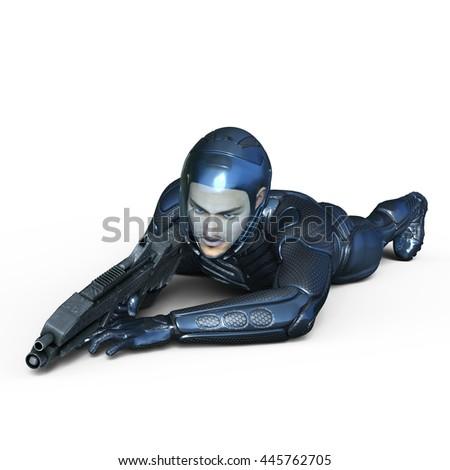 3D CG rendering of a super hero - stock photo