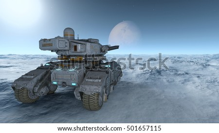 3D CG rendering of a tank