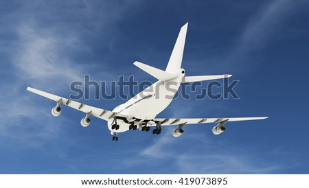 3D CG rendering of airplane