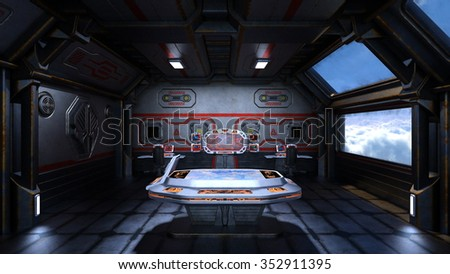 3D CG rendering of meeting room