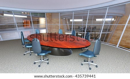 3D CG rendering of office