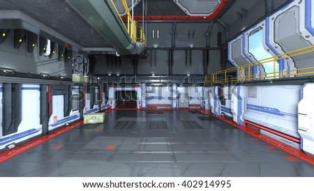 3D CG rendering of research institute