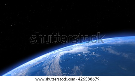 3D CG rendering of the earth
