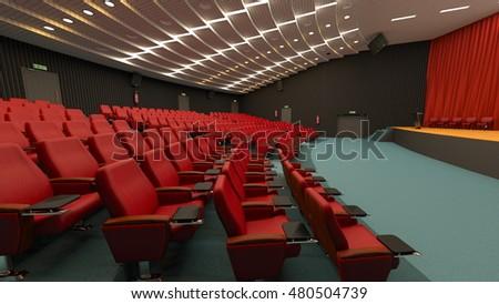 3D CG rendering of theater