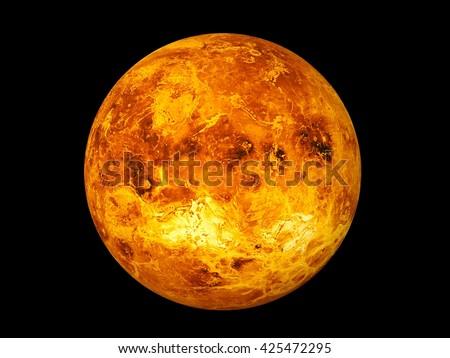 3D CG rendering of Venus - stock photo