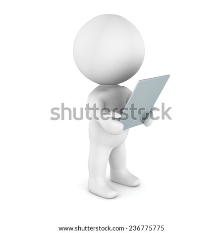 3D Character Reading from Generic Tablet
