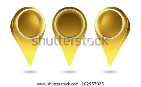 3D check in icon web ,design element. isolated - stock photo