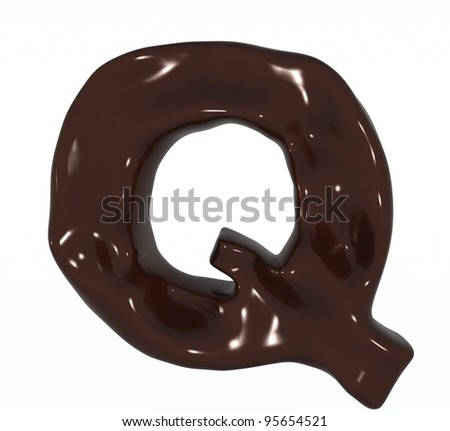3D Chocolate letter Q