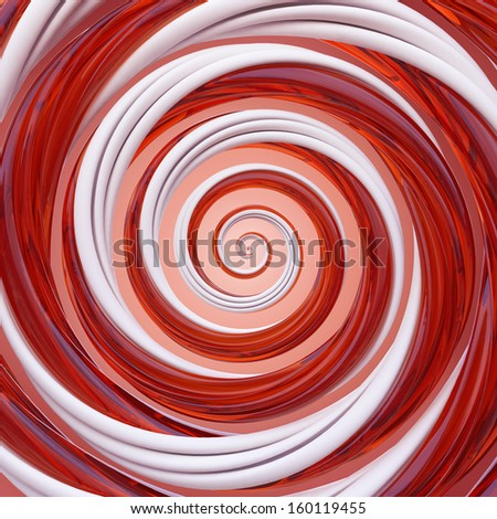 3d Christmas candy cane spiral wallpaper background - stock photo