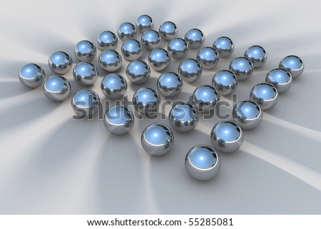 3D Chrome Ball - stock photo