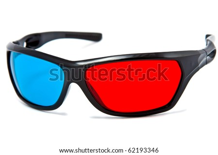 3d cinema glasses isolated on white