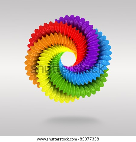 3d circle colorful  background - stock photo