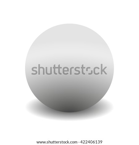 3d circle isolated  on white background with shadow