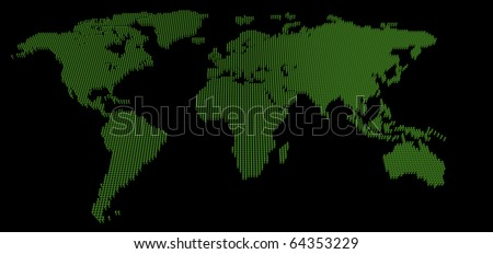 World map abstract vintage computer graphic stock vector 317954612 3d circular pins map of the world cad generated on black background gumiabroncs Choice Image