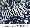 3d city with logo BUSINESS - stock vector