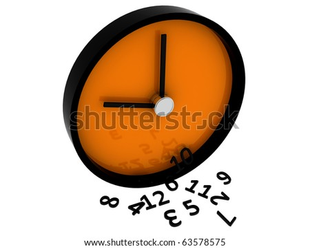 3D Clock - stock photo