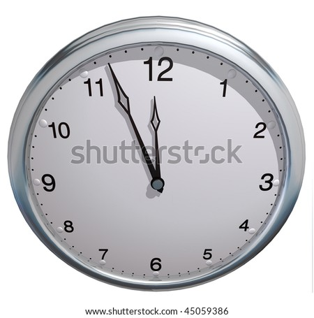 3d clock on the plain color background