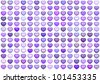 3d collection floating love heart in multiple purple - stock photo